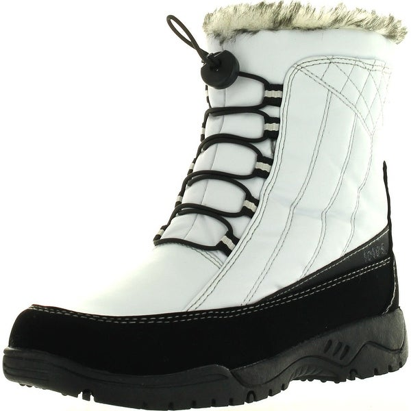 Totes Womens Eve Waterproof Winter Snow Boots - White