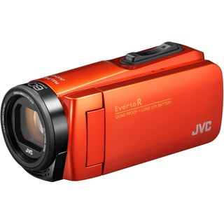 JVC Everio GZ-R460BUS Quad-Proof HD Camcorder with 40x Optical Zoom (Black) (Option: Orange)