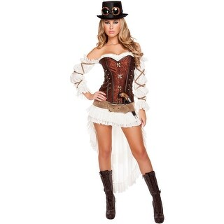 Hoty Steampunk Babe Costume, Hoty Steampunk Costume - as shown