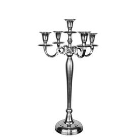"""CYS® Metal Candelabra Traditional Style in Silver Aluminum Plated. H-20"""""""