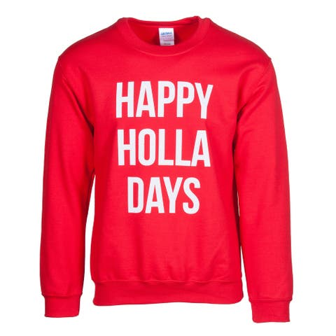 Mens Happy Holla Days Ugly Sweater