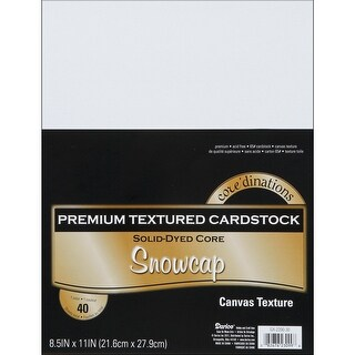 "Core'dinations Value Pack Canvas Cardstock 8.5""X11"" 40/Pkg-Snowcap"
