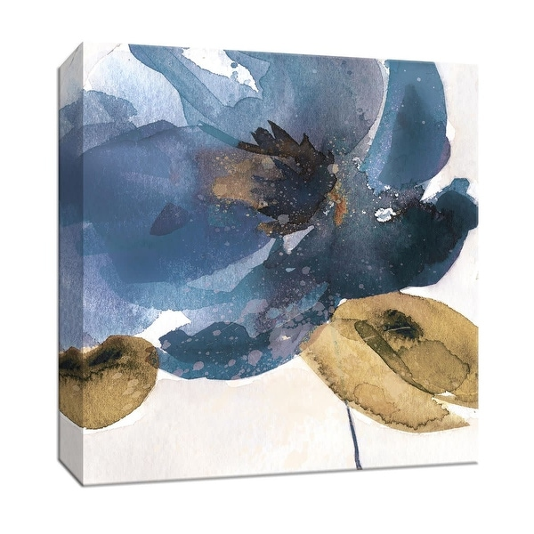 """PTM Images 9-147099 PTM Canvas Collection 12"""" x 12"""" - """"Blue Note I"""" Giclee Flowers Art Print on Canvas"""