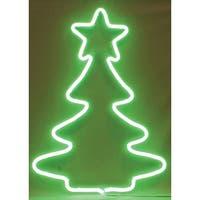 Sienna  NT404711 Neon Christmas Decoration Tree Sculpture, Green, Metal