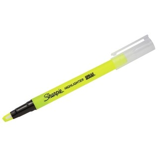 Sharpie Clear View Stick o/s Fluorescent Yellow Pack of 12