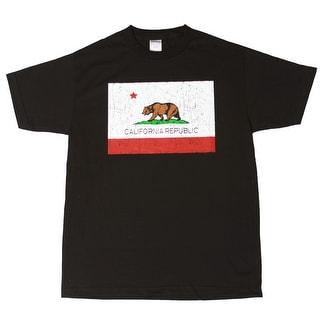 Men's California Bear Republic Black Short Sleeve Shirt