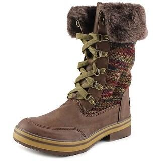 Rocket Dog Surihk Women Round Toe Synthetic Brown Snow Boot