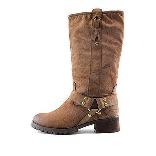 Report Womens Tessah Leather Almond Toe Knee High Fashion Boots