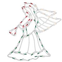 "18"" Lighted Angel Christmas Window Silhouette Decoration (Pack of 4) - green"