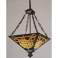 "Meyda Tiffany 47583 4 Light 24"" Wide Pendant with Handmade Shade"