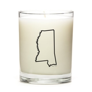 State Outline Candle, Premium Soy Wax, Mississippi, Lemon