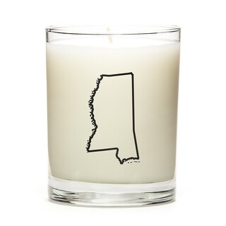 State Outline Candle, Premium Soy Wax, Mississippi, Vanilla