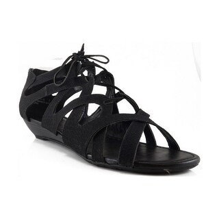Bamboo Women Denisa-85 Lace-Up Closed Back Sandals