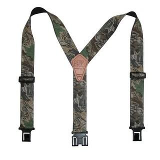 Perry Suspenders Men's Elastic Hook End Camouflage Suspenders - Camo - One Size