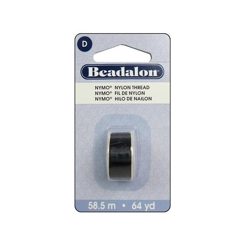 Beadalon Nymo Thread Size D Black 64yd