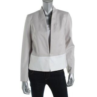 Jones New York Womens Colorblock Long Sleeves Casual Blazer