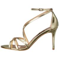 BADGLEY MISCHKA Womens Lillian Leather Open Toe Casual Strappy Sandals - 8.5