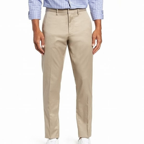 Nordstrom Men's Shop Mens Pants Beige Size 38x30 Slim Fit Chinos Stretch. Opens flyout.