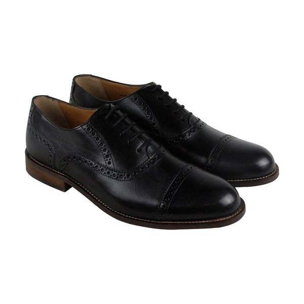 Florsheim Pascal Ct Ox Mens Black Leather Casual Dress Lace Up Oxfords Shoes