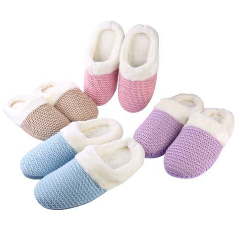Cozy Women Fuzzy Memory Foam Bedroom Home Slide Slipper House Slipper