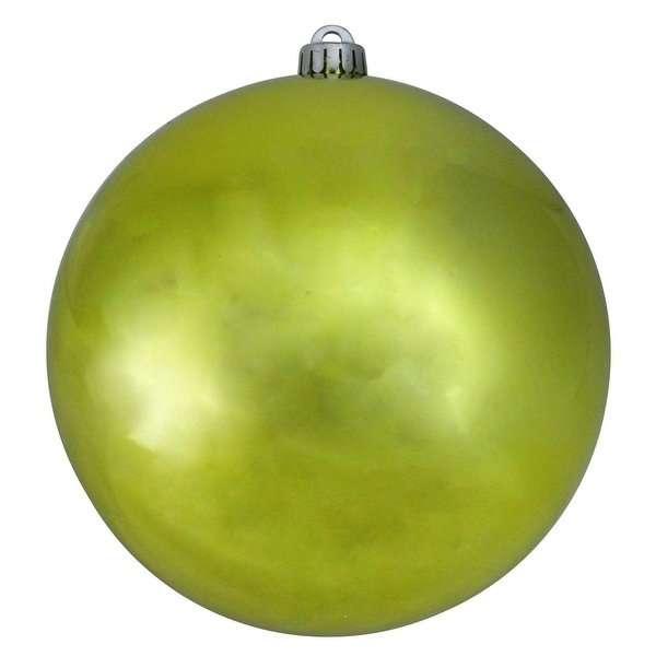 "Shatterproof Shiny Lime Green UV Resistant Commercial Christmas Ball Ornament 8"" (200mm)"