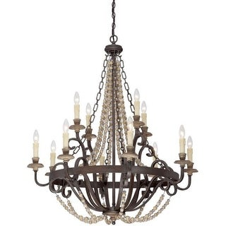 "Savoy House 1-7405-12 Mallory 12 Light 38"" Wide 2 Tier Chandelier"