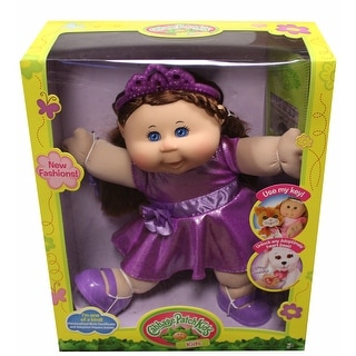 "Cabbage Patch Kids 14"" Plush Doll: Brunette Hair/Blue Eye Girl (Glitz)"