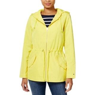 Tommy Hilfiger Womens Anorak Jacket Hooded Long Sleeves