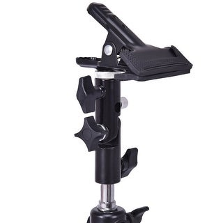 Costway Photography Studio Reflector & Background Metal Clamp Clip Holder Screw Swivel - as pic