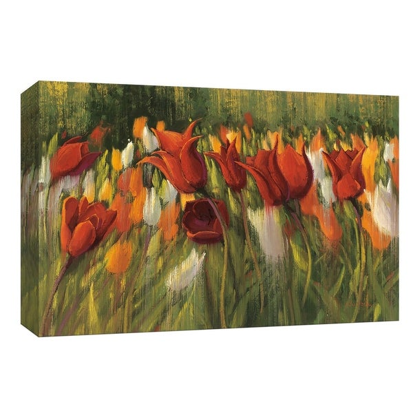 "PTM Images 9-153587 PTM Canvas Collection 8"" x 10"" - ""Tipsy Tulips"" Giclee Flowers Art Print on Canvas"