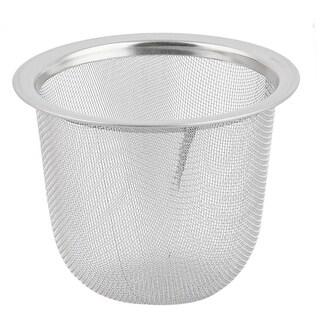 Unique BargainsKitchen Metal Tea Leaves Waste Drain Sink Basin Strainer Silver Tone 60mm Dia