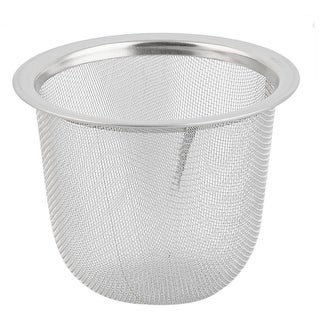Unique BargainsKitchen Metal Waste Residue Drain Sink Strainer Drainer Silver Tone 65mm Dia