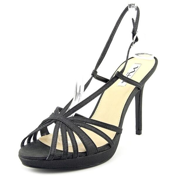 Nina Fenix Women Open Toe Synthetic Black Platform Heel
