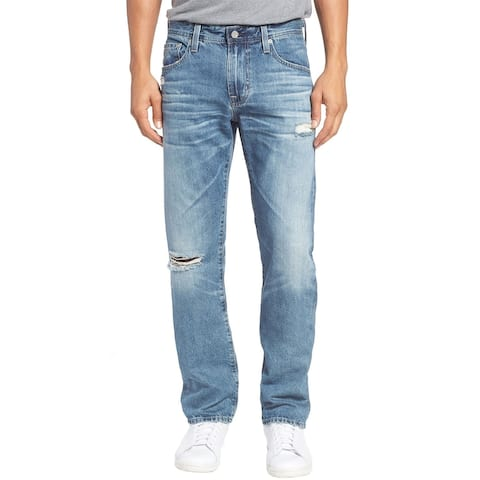 AG Adriano Goldschmied Mens Matchbox Slim Straight Jeans 28 Blue