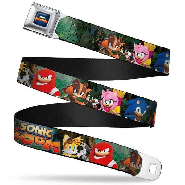 Sonic Boom Sonic Boom Logo Full Color Blues Yellow Orange Fade Sonic Boom 5 Seatbelt Belt