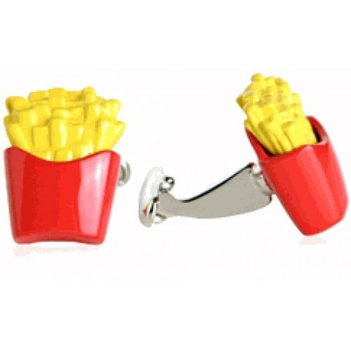 French Fries Food Cufflinks