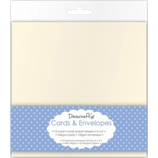 "Dovecraft Cards W/Envelopes 6""X6"" 10/Pkg-Cream"