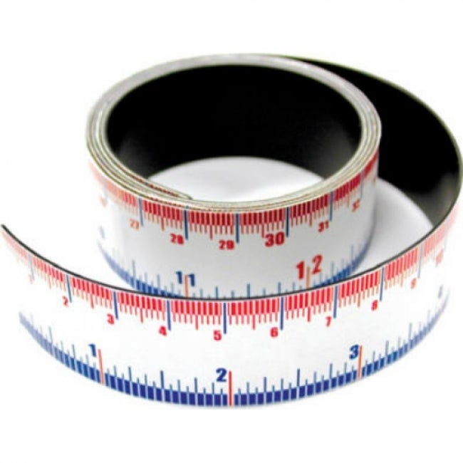 Master Magnetics 07286 Flexible Magnetic Measuring Tape, 1 Wide x 1 Meter