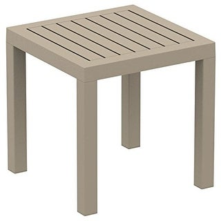 Ocean Square Side Table, Dove Gray