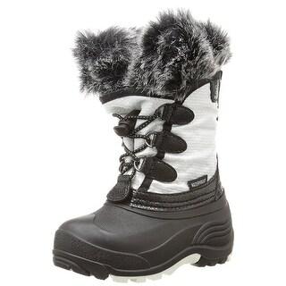 Kids Kamik Girls Powdery Fabric Mid-Calf Pull On Snow Boots
