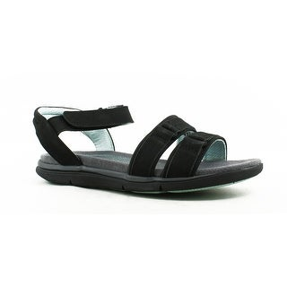 Hush Puppies Womens Margoaida BlackNubuck Sandals Size 6