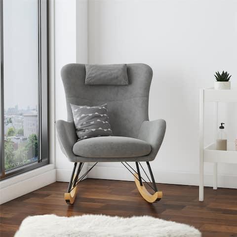 Avenue Greene Ernest Rocker Chair with Storage Pockets - N/A