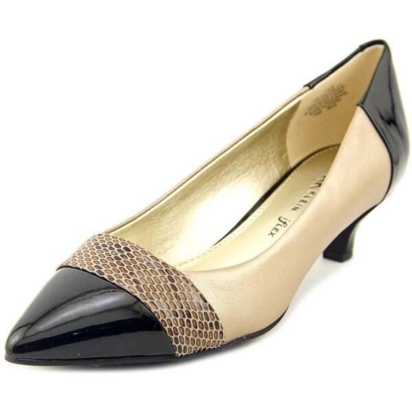 Anne Klein AK McKinley Women Pointed Toe Leather Tan Heels