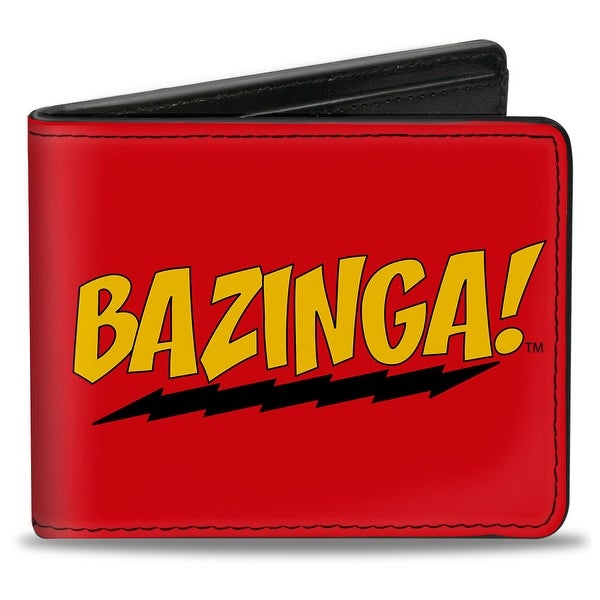 Bazinga! Red Gold Black Bi Fold Wallet - One Size Fits most