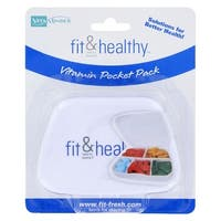 "Fit & Healthy Vitamin & Tablet Storage Pocket Pack (2 1/4"" x 3/4"" x 3 1/2"") -"