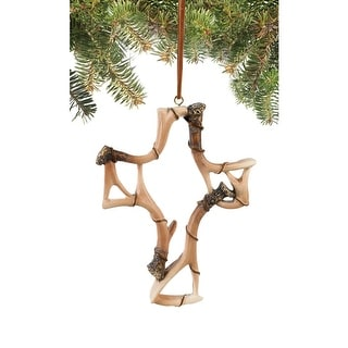 Legendary Whitetails Deer Antler Cross Ornament - N/A