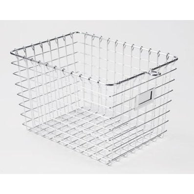"Spectrum 47870 Small Storage Basket, 12-7/8"" x 8-7/8"" x 8"", Chrome"
