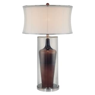 """Ambience AM 10513 1 Light 32"""" Height Table Lamp with Cream Corset Shade"""