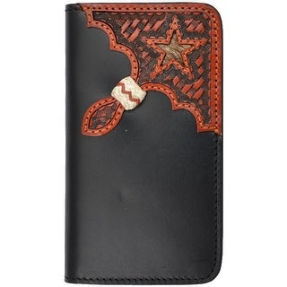 Tony Lama Cell Phone Case Leather iPhone 5/5s Star Black Tan TLPH001