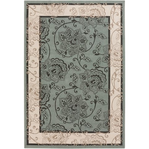 Janelle Contemporary Floral Indoor/Outdoor Area Rug